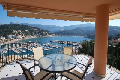 Penthouse with impressive views over the Port de Sóller for monthly rent