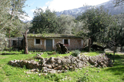 Small stone house with large water reservoir in prime location in Fornalutx