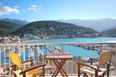 Apartment with two bedrooms and sea views in Port de Sóller