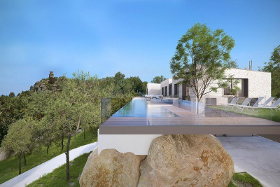 High quality modern villa with separate guesthouse (building project) in George Sand, Valldemossa