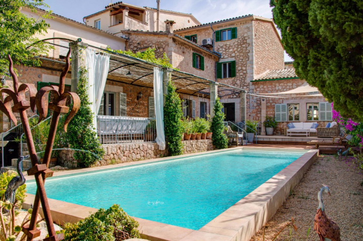 Beautiful Stone Townhouse With Pool Garden And Double Garage In The Lovely Town Of Soller